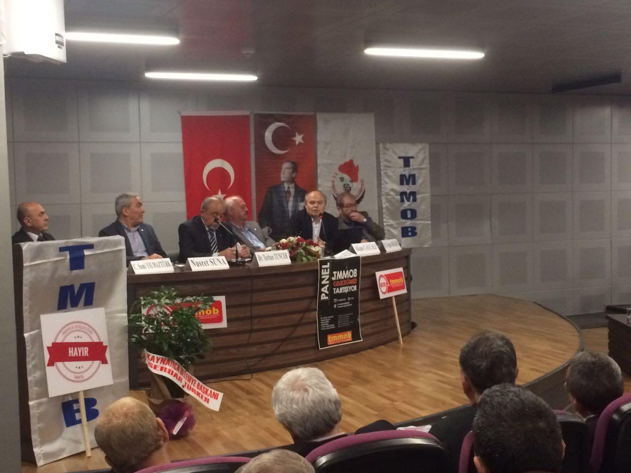 """""""TMMOB GELECEĞİMİZİ TARTIŞIYOR"""" PANELİ YAPILDI"""